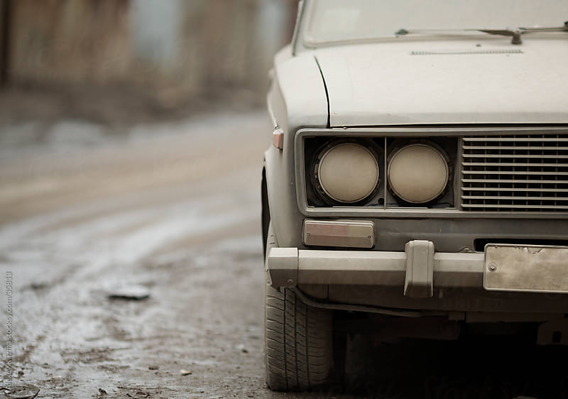grungy car by Alexey Kuzma for Stocksy United