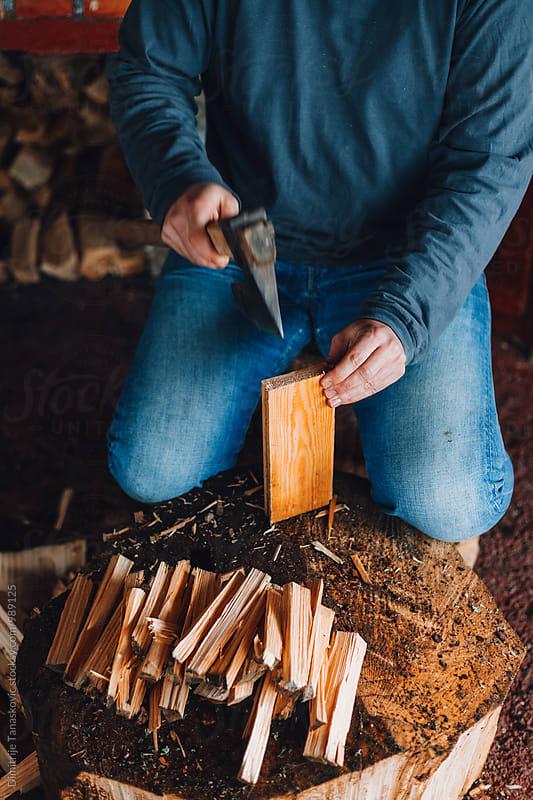 Cutting woods by Dimitrije Tanaskovic for Stocksy United