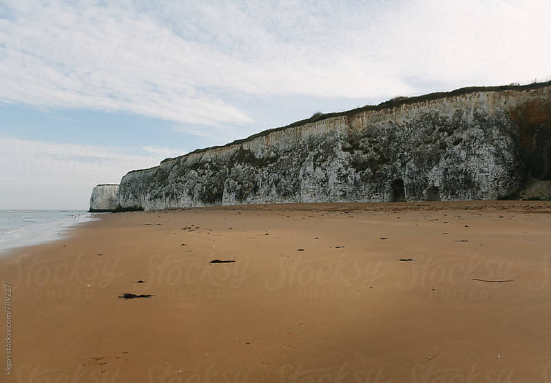 White chalk cliffs of the Kent coast by kkgas for Stocksy United