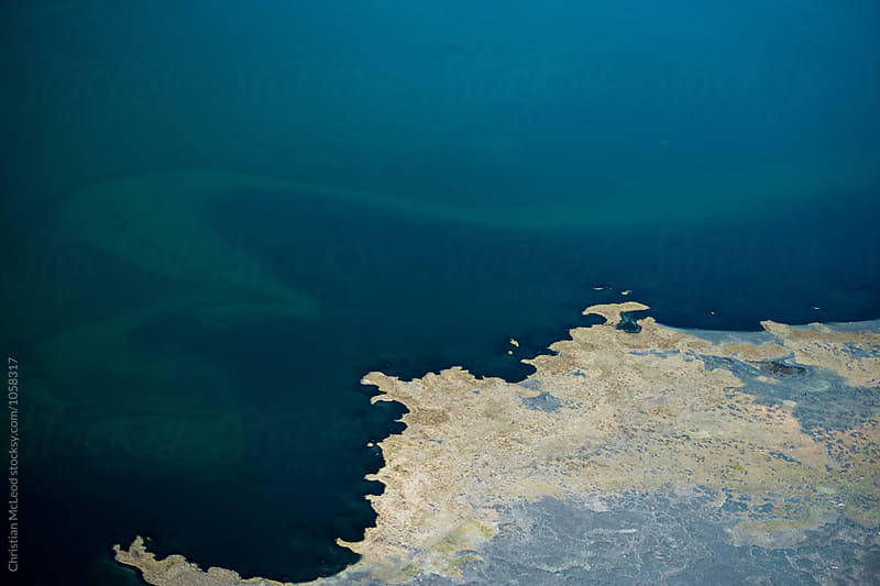 Icelandic coastal aerial view by Christian McLeod for Stocksy United