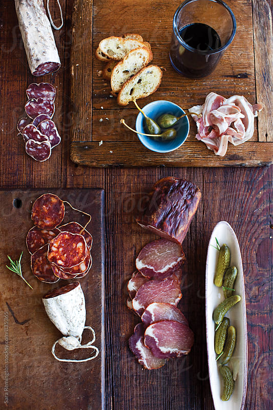 Charcuterie and Olive Board by Sara Remington for Stocksy United