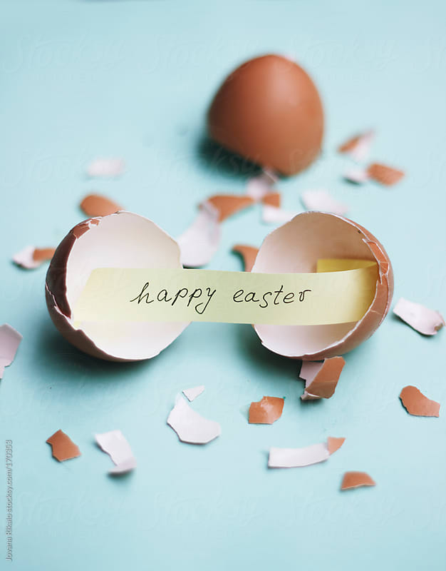 Happy Easter message by Jovana Rikalo for Stocksy United