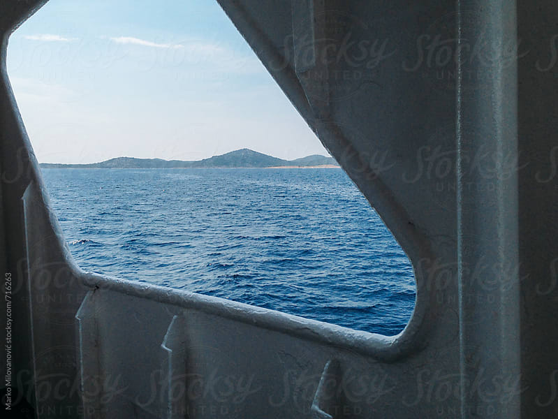 View from ferry to the sea by Marko Milovanović for Stocksy United
