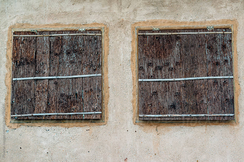 old wooden window by Pansfun Images for Stocksy United