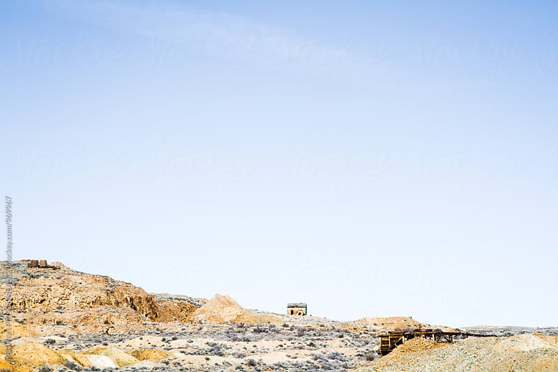 Barren Landscape from Ghost Town Mine by MEGHAN PINSONNEAULT for Stocksy United