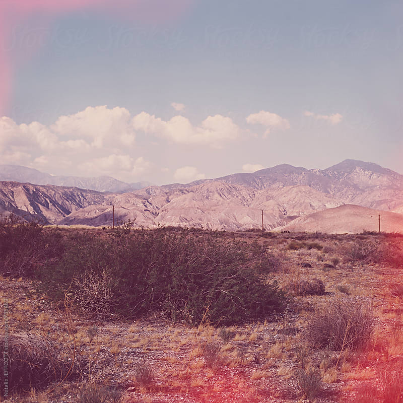 dreamscape image from the desert in California near Palm Springs by Natalie JEFFCOTT for Stocksy United