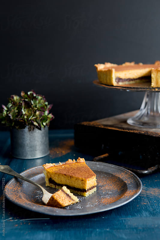 Pumpkin Tart by Aniko Lueff Takacs for Stocksy United