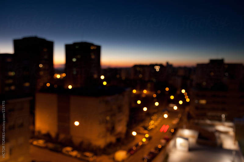 Defocused Night Time by VICTOR TORRES for Stocksy United