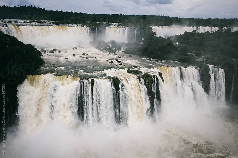Waterfall in Iguassu falls national park by Alejandro Moreno de Carlos for Stocksy United
