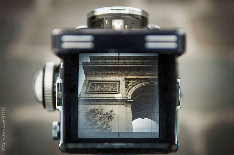 Vintage Film Medium Format Camera Photographing the Arc de Triomphe Paris by JP Danko for Stocksy United