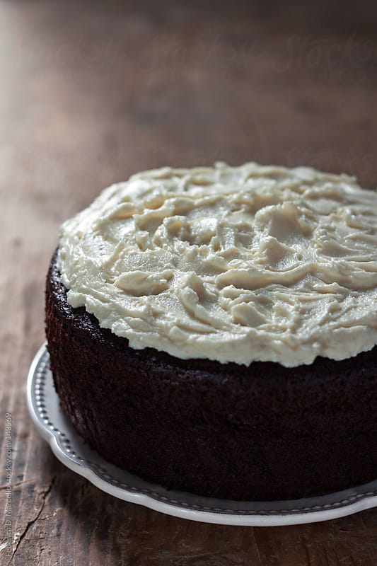 Guinness cake by Federica Di Marcello for Stocksy United