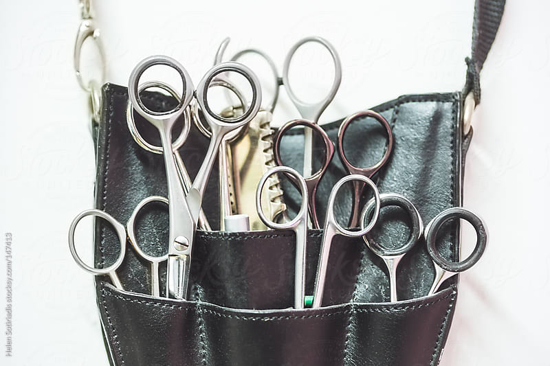 Hairdresser Tools by Helen Sotiriadis for Stocksy United