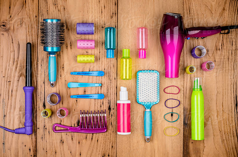 Beauty Hair Care Tools and Clips by suzanne clements for Stocksy United