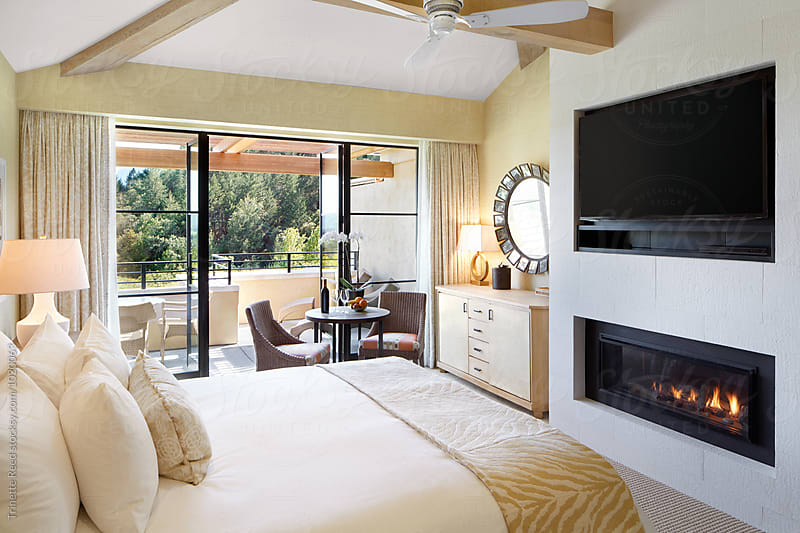 Hotel room at luxury resort by Trinette Reed for Stocksy United
