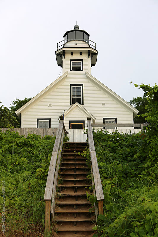 Mission Point Lighthouse In Northern Michigan by ALICIA BOCK for Stocksy United