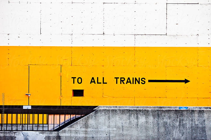 Train station sign, Oakland, CA by Thomas Hawk for Stocksy United
