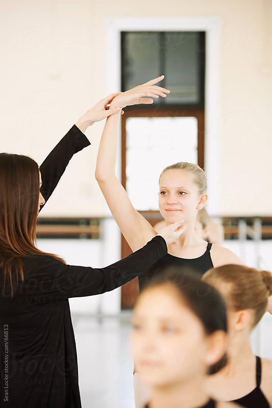 Ballet: Student Learning Proper Positioning by Sean Locke for Stocksy United