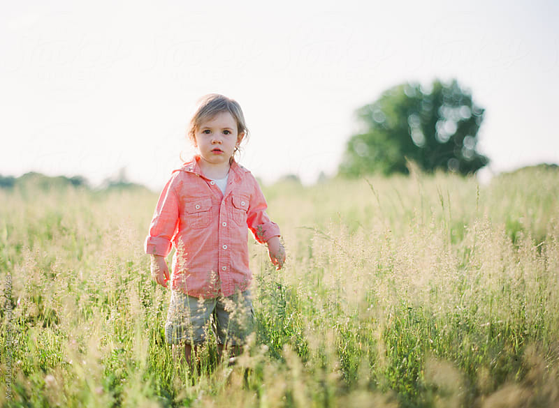 A boy in the field by Marta Locklear for Stocksy United