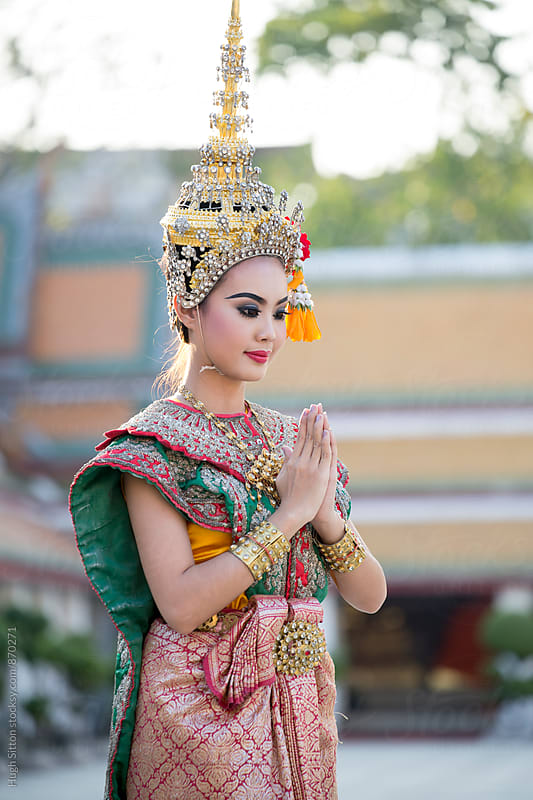Traditional Thai female Dancer. Bangkok. Thailand. by Hugh Sitton for Stocksy United