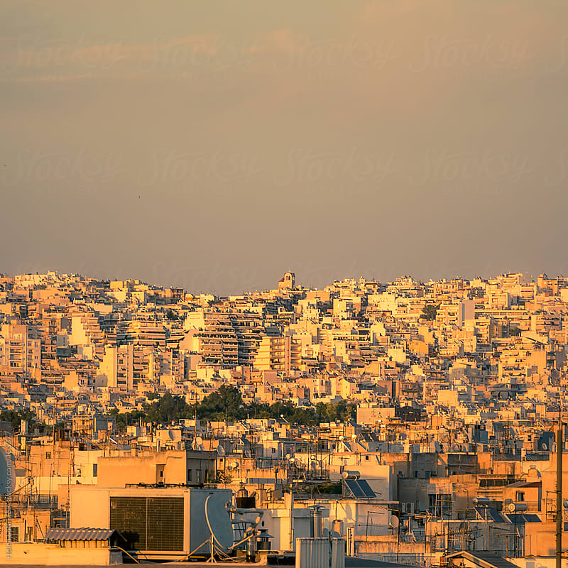 Overview of the city of Athens by Helen Sotiriadis for Stocksy United