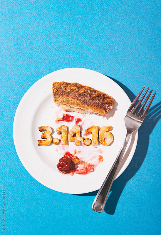 Pi: Pie Plate With Pi Date Numbers In Crust by Sean Locke for Stocksy United
