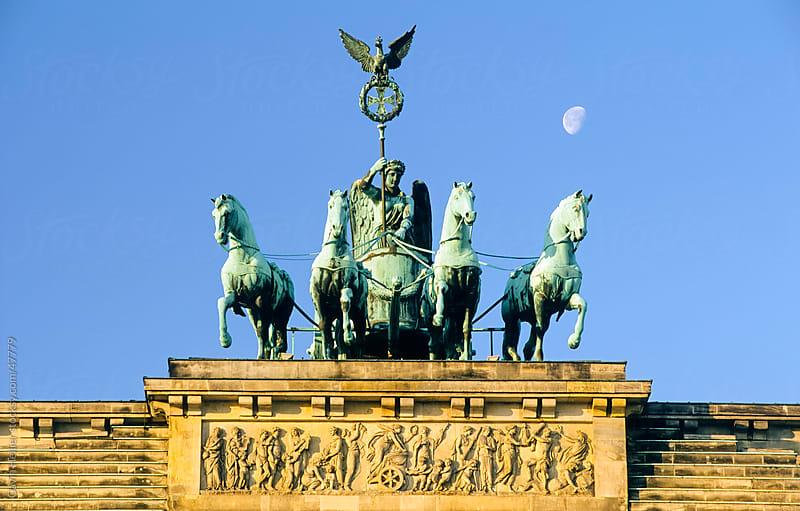 Brandenburg Gate at Pariser Platz, Berlin, Germany, Europe  by Gavin Hellier for Stocksy United