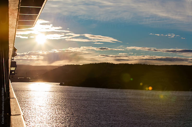 The view from the balcony of a ship reaching the Norwegian coast by Cindy Prins for Stocksy United