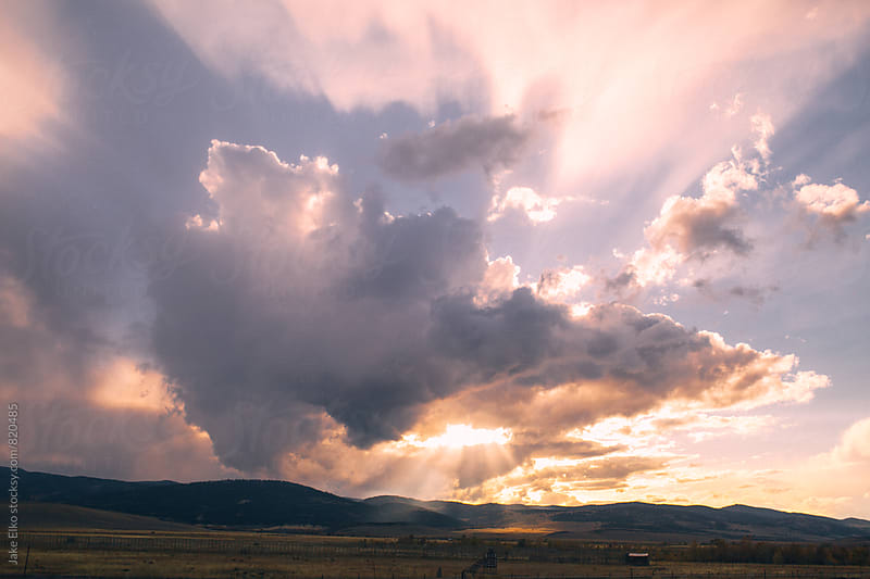 Beautiful Montana Sunset by Jake Elko for Stocksy United