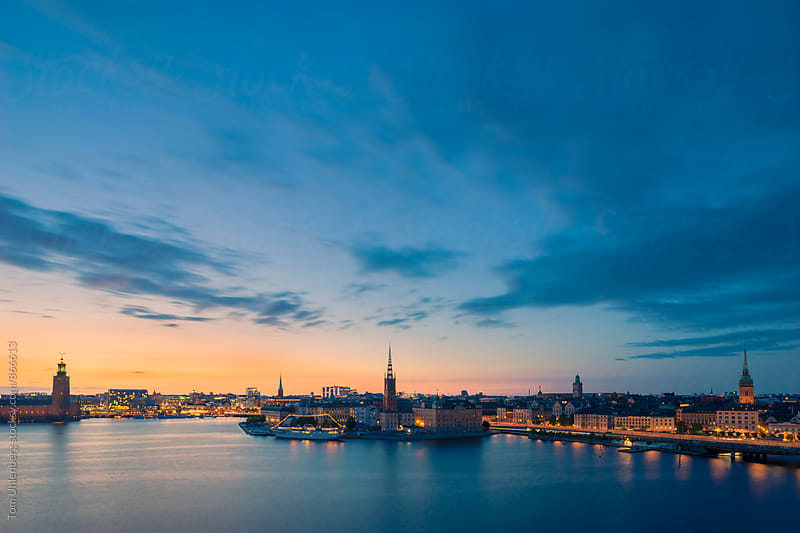 Stockholm, Sweden - Evening Panorama of the City by Tom Uhlenberg for Stocksy United