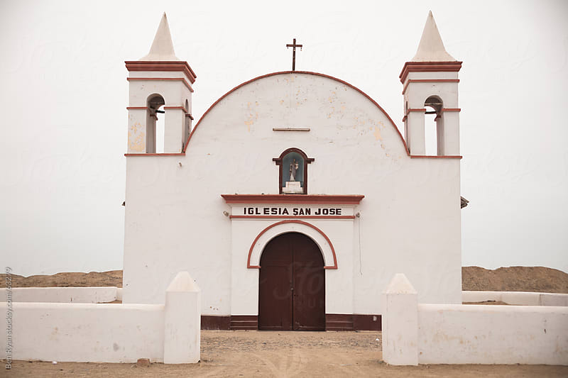 Spanish colonial mud-brick church by Ben Ryan for Stocksy United