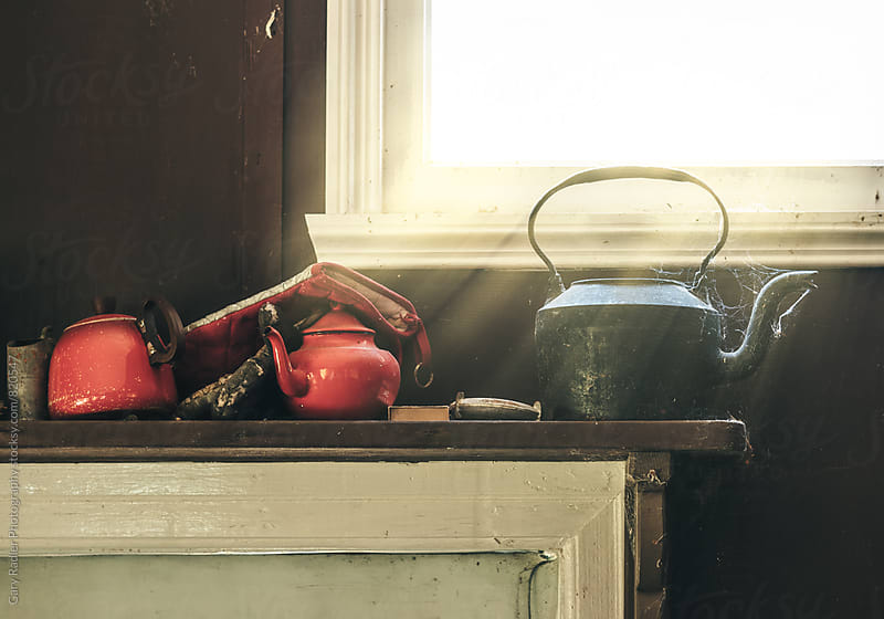 Old Kettles on a Mantelpiece by Gary Radler Photography for Stocksy United