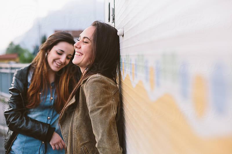 Teenage girls smiling by michela ravasio for Stocksy United