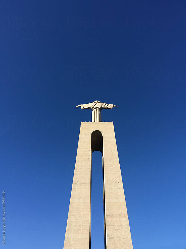 Cristo Rei monument in Lisbon, Portugal by Amanda Large for Stocksy United