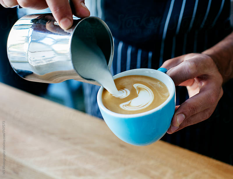 Barista making a cappuccino by W2 Photography for Stocksy United