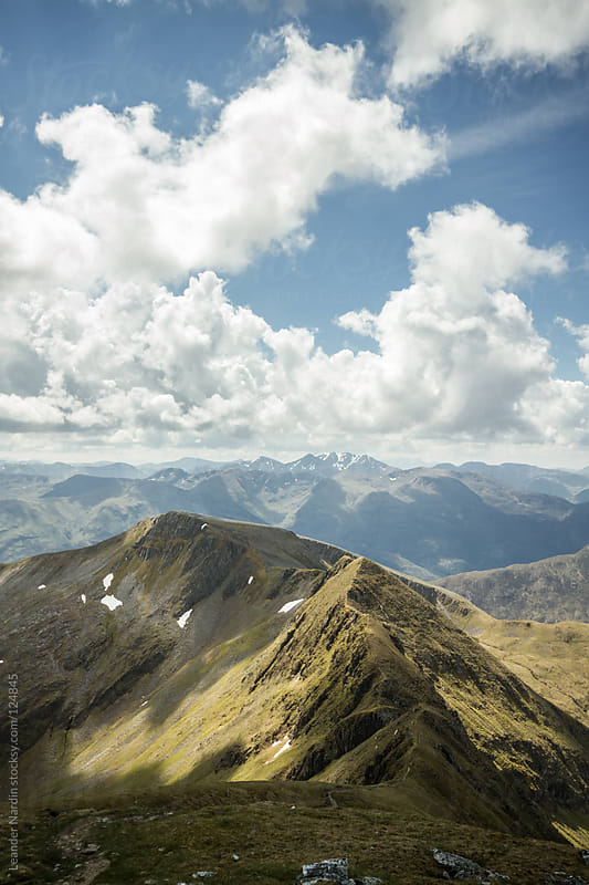 Mountain trail in the scottish highlands by Leander Nardin for Stocksy United