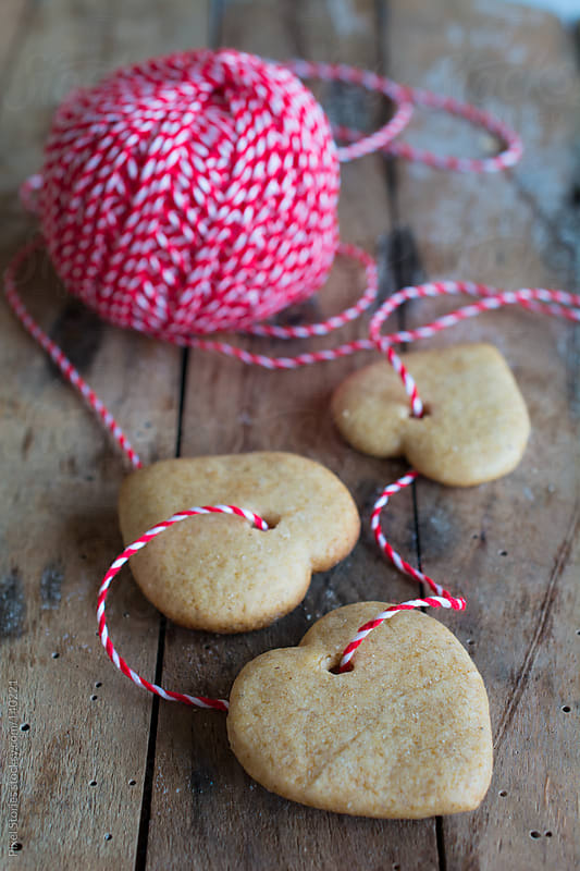 Heart-shape cookies  by Pixel Stories for Stocksy United