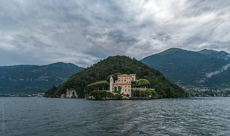 Lake Como landscape during a storm by Simone Becchetti for Stocksy United