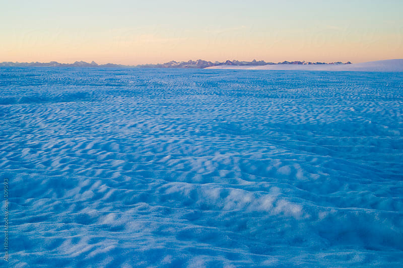 View of icecap in coastal region of south-east Greenland by Alex Hibbert for Stocksy United