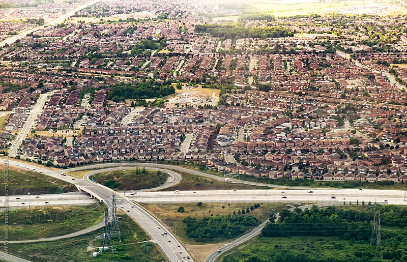 Aerial View of Suburban Housing Development by Studio Six for Stocksy United