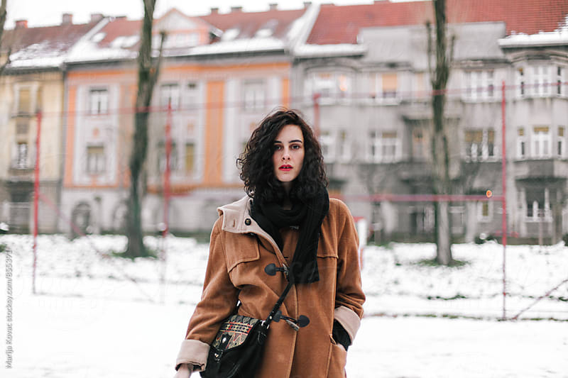 Beautiful woman on a winter day  by Marija Kovac for Stocksy United
