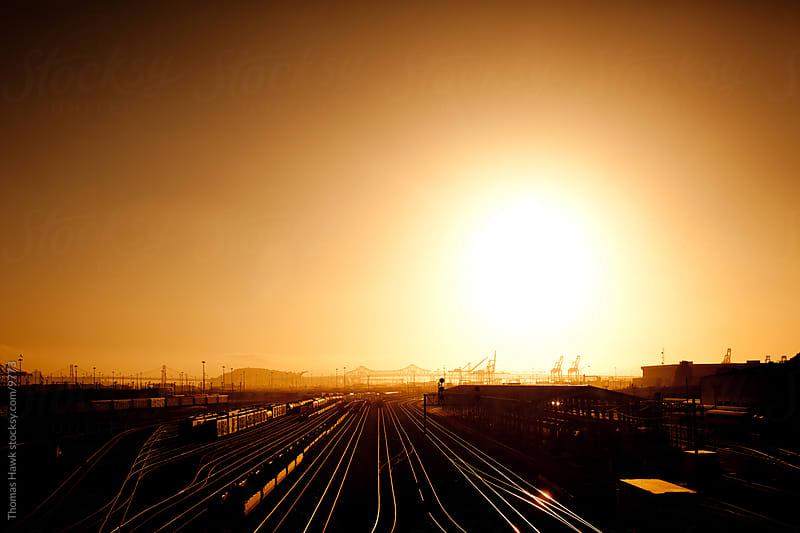 Sunset Over Oakland, CA by Thomas Hawk for Stocksy United