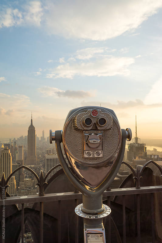 Binoculars to the Empire State by ACALU Studio for Stocksy United