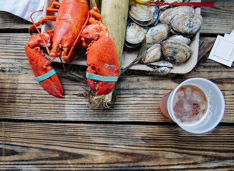 Traditional Maine lobster bake by Cara Dolan for Stocksy United