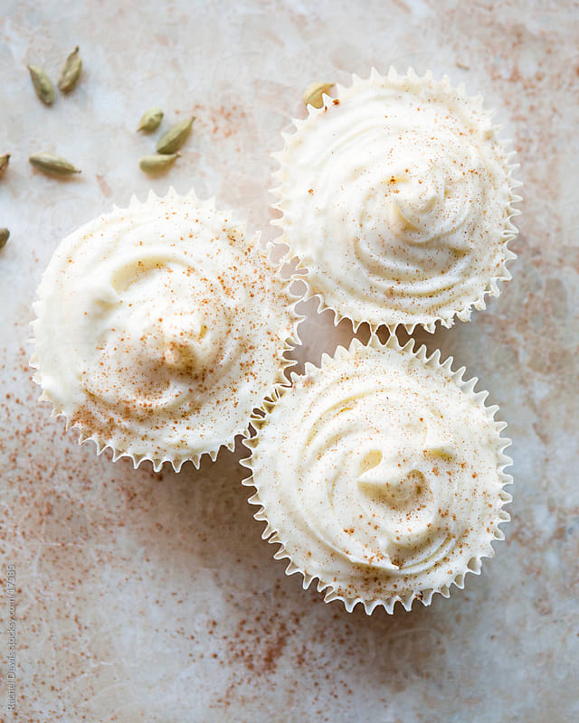 Chai tea latte spiced cupcakes. by Rachel Dewis for Stocksy United