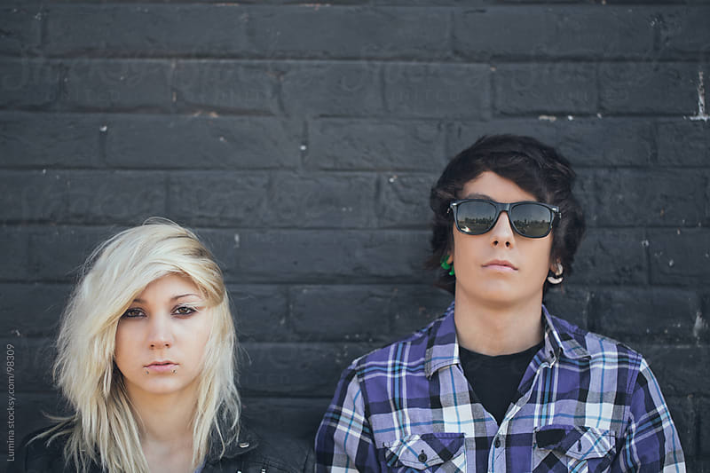 Urban Teenage Couple by Lumina for Stocksy United