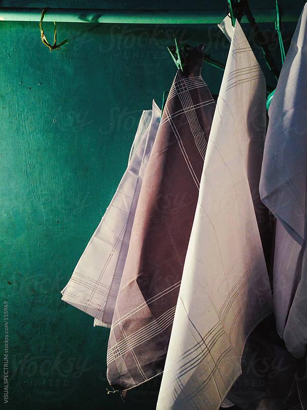 Handkerchiefs Drying by VISUALSPECTRUM for Stocksy United