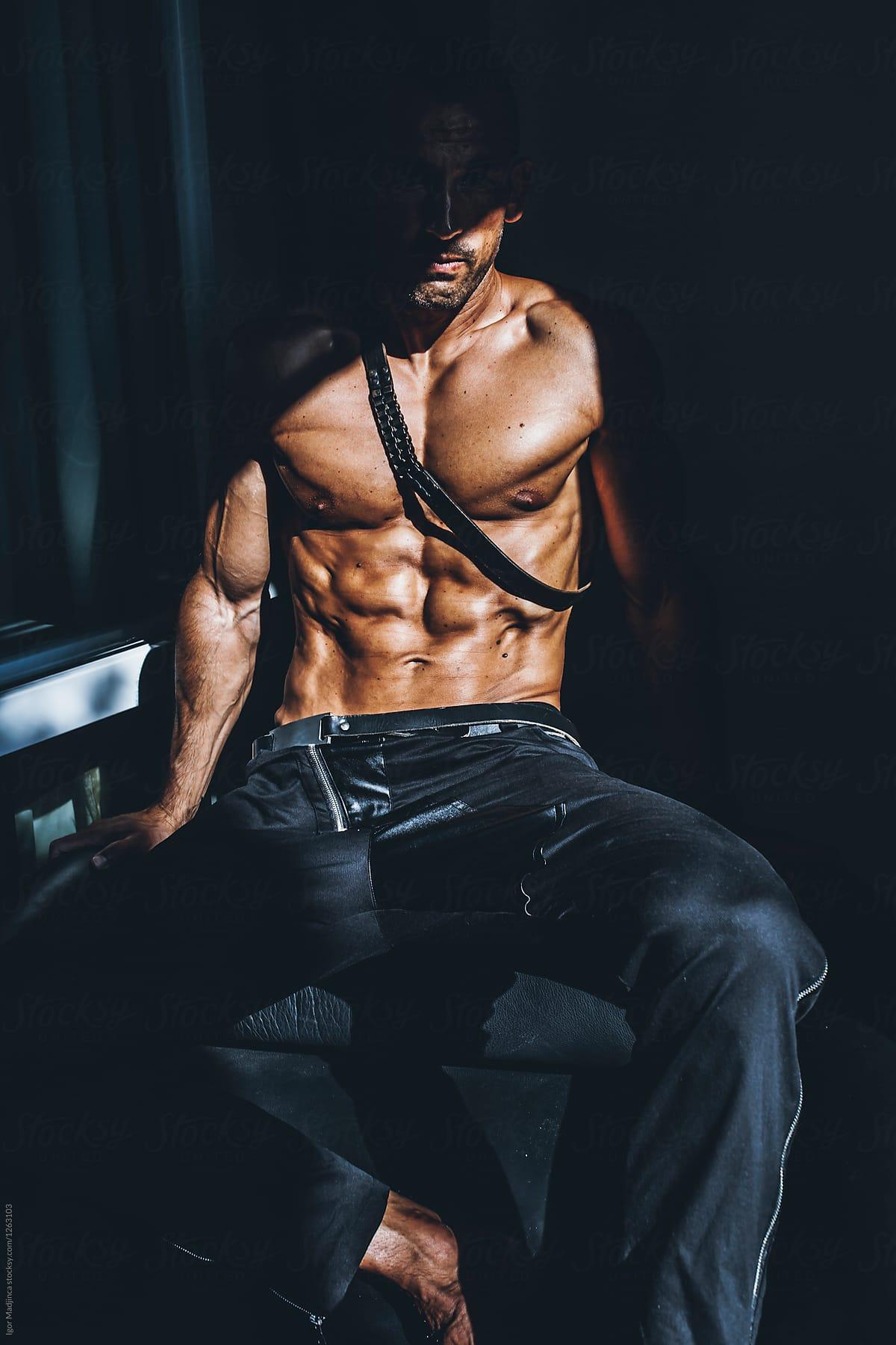 Body Shadow Art Man Gym Dark By Igor Madjinca Stocksy United