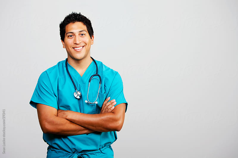 Doctors: Cheerful Hispanic Male Doctor by Sean Locke for Stocksy United