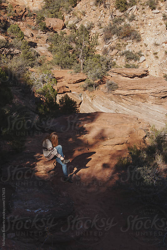 Young Adventurous Woman Resting by Nicholas Roberts for Stocksy United
