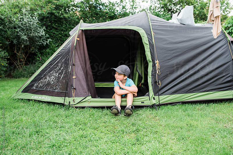 Backyard camping by Léa Jones for Stocksy United